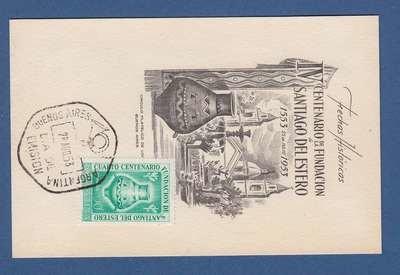 ARGENTINA centenario Santiago del Estero 1953