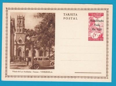 VENEZUELA illustrated postal card Habilitado **