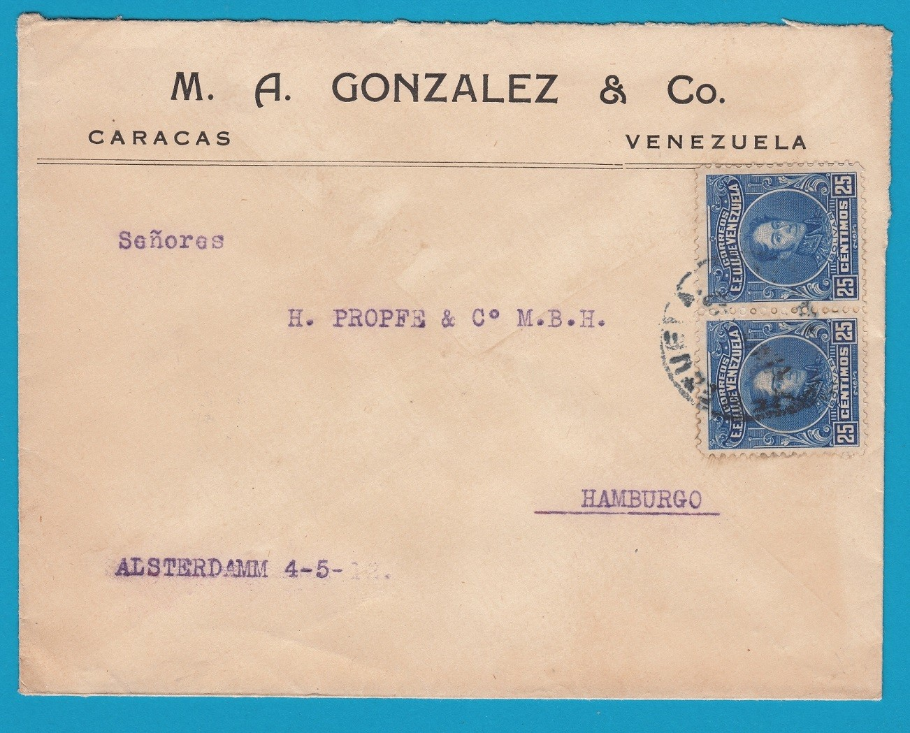 VENEZUELA cover Caracas to Germany