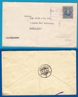 VENEZUELA ship cover 1932 KNSM