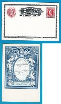 VENEZUELA postal card 1910 Independencia mint NH