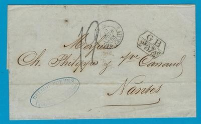 PERU cover sheet 1863 Lima to France