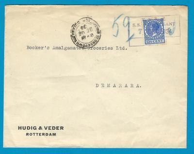 NEDERLAND brief 1934 met KNSM stempel S.S. Stuyvesant