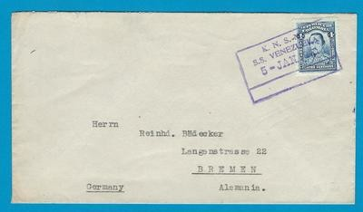 COLOMBIA cover 1931 by KNSM ship S.S. Venezuela to Germany