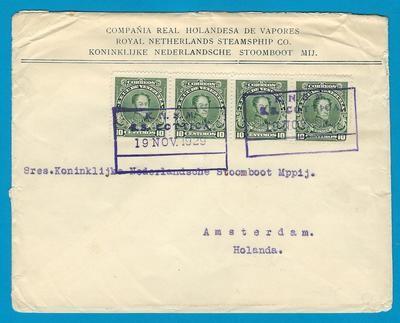 VENEZUELA KNSM ship cover 1929 S.S. Cottica to Netherlands