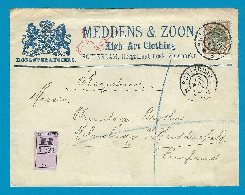 NEDERLAND R brief 1904 Rotterdam naar Engeland
