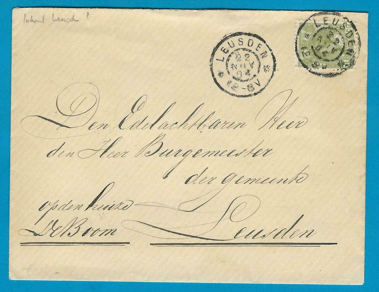 NEDERLAND lokale brief 1904 Leusden
