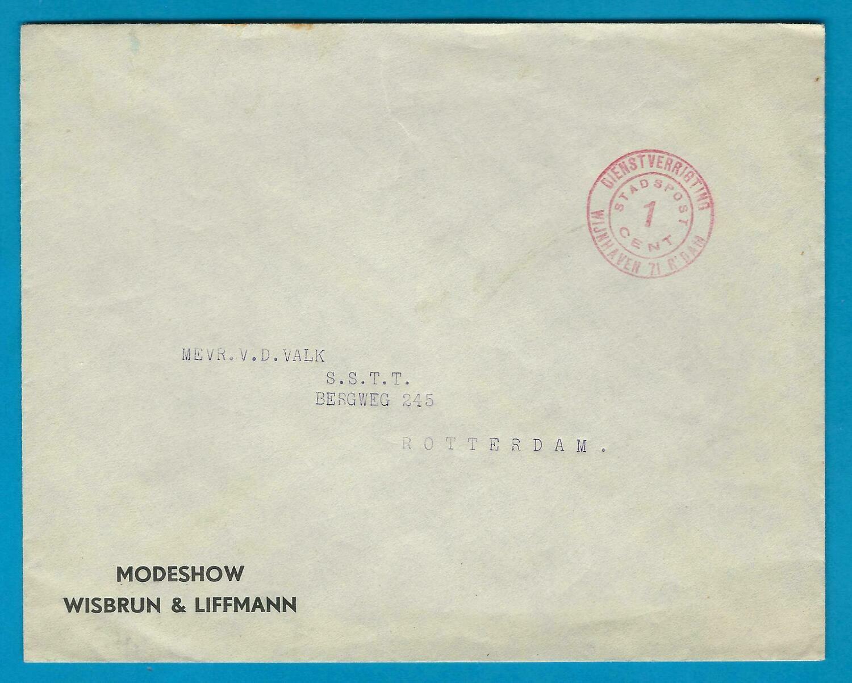 NEDERLAND stadspost brief Rotterdam
