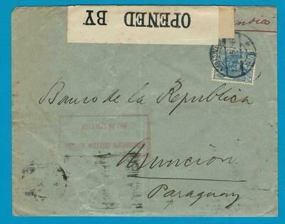 NEDERLAND censuur brief 1916 Amsterdam naar Paraguay