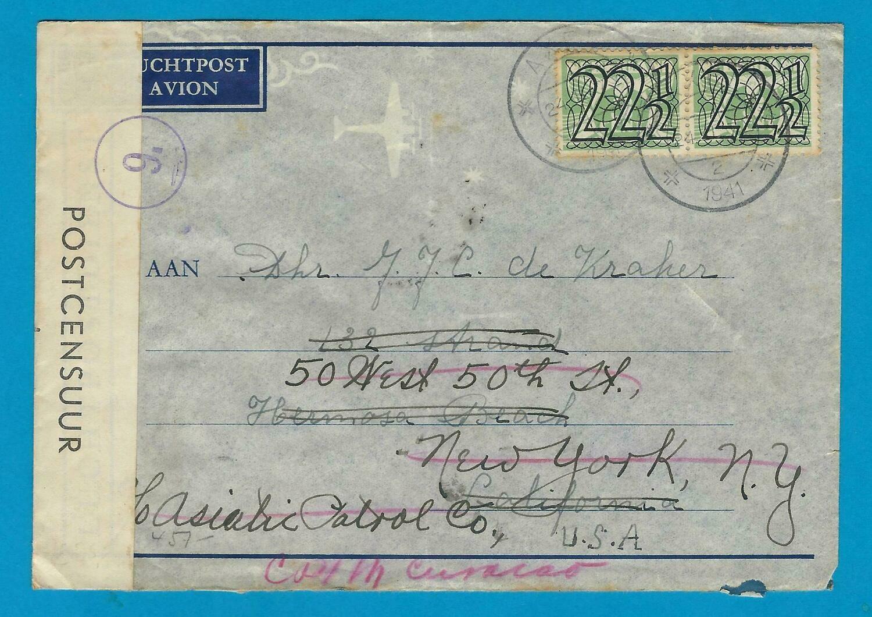 NEDERLAND undercover brief 1941 Axel naar Curaçao