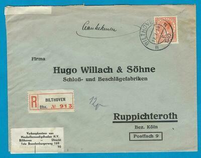 NEDERLAND R brief 1940 Bilthoven naar Duitsland