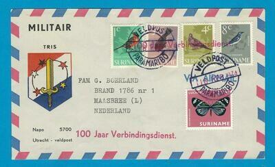 SURINAME Veldpost brief 1974 TRIS naar Nederland