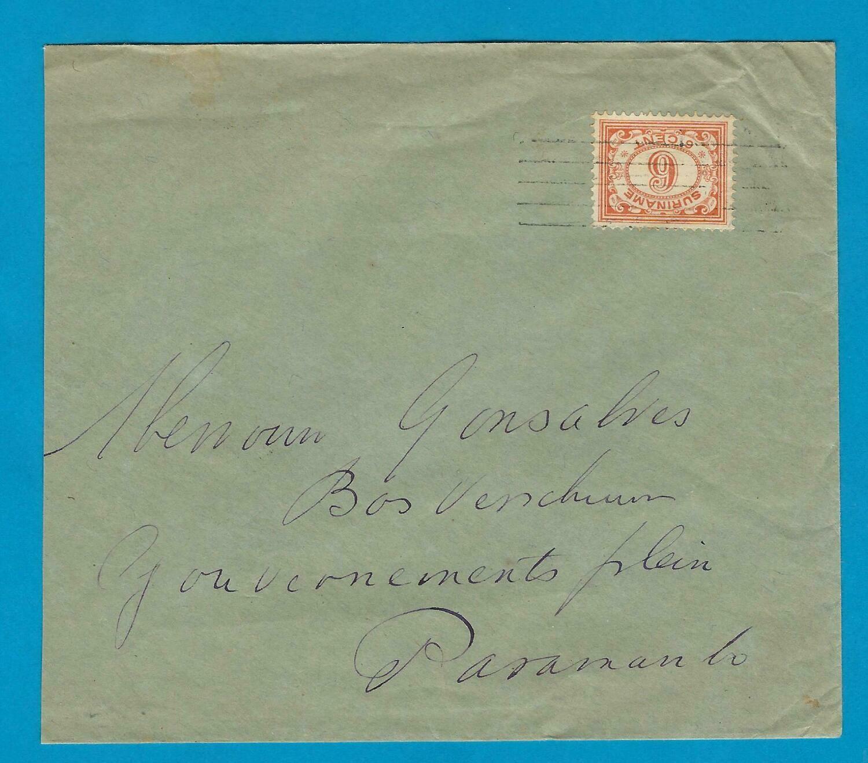 SURINAME brief 1931 met 5 strepen stempel
