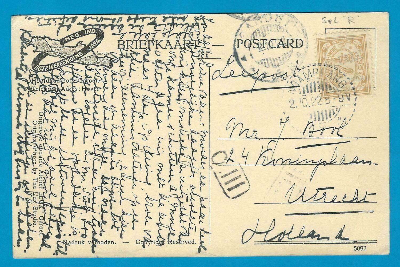 NETHERLANDS EAST INDIES PPC tenniscourt 1922 Ngamplang