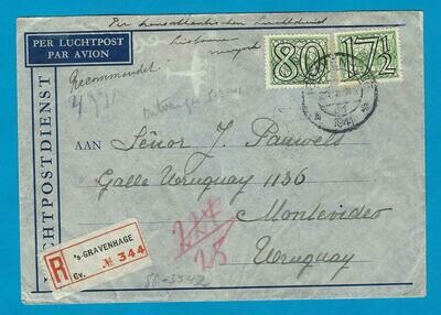 NEDERLAND R-lp clipper 20-1-1941 Den Haag naar Uruguay