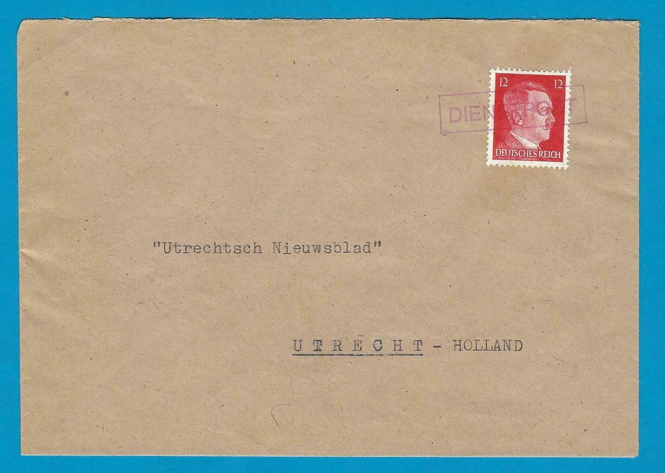 NEDERLAND censuur brief Berlijn per DIENSTPOST naar Utrecht