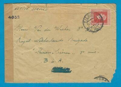 NEDERLAND brief 1945 Tilburg naar Royal Netherlands Brigade