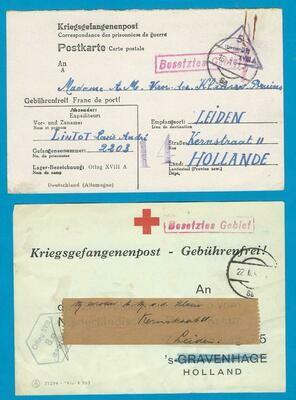 NEDERLAND krijgsgevangenen post 1941-42