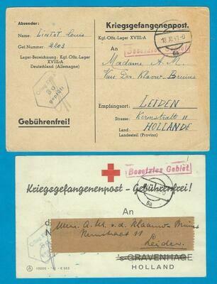 NEDERLAND 2 bevestigingen van pakket 1941-42