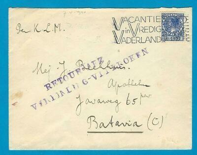 NEDERLAND KLM brief 7-V-1940 Den Haag verbinding verbroken
