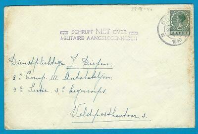 NEDERLAND brief 28-II-1940 Breda - Schrijft niet over militaire....