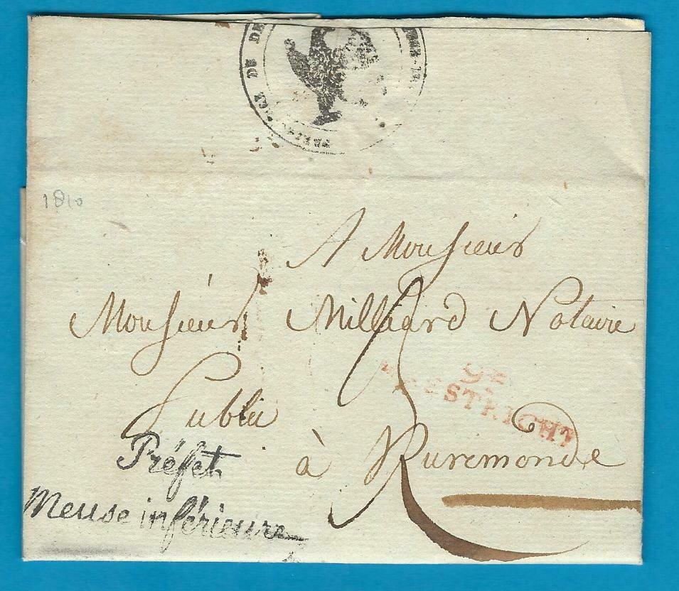 NEDERLAND complete brief 1810 Maastricht naar Roermond