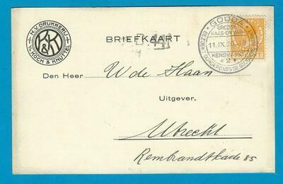 NEDERLAND briefkaart 1926 Gouda Kaas en Varkensmarkt