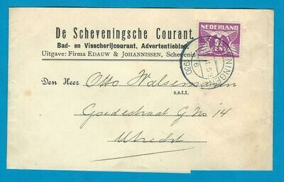NEDERLAND krantenbandje 1930 Scheveningen