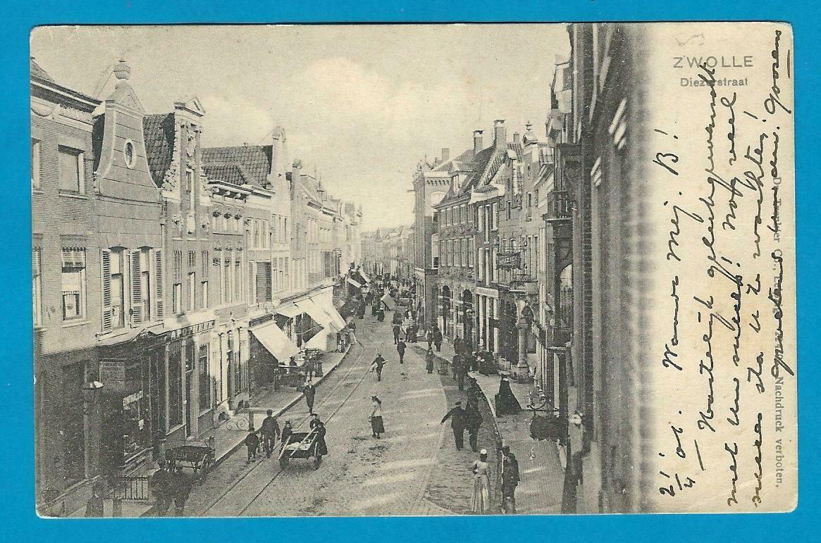 NEDERLAND prentbriefkaart Zwolle 1906