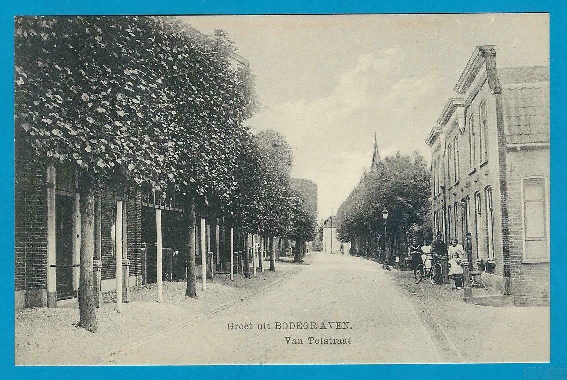 NEDERLAND prentbriefkaart Bodegraven van Tolstraat *