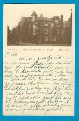 NEDERLAND fotokaart Pension Du Midi 1931