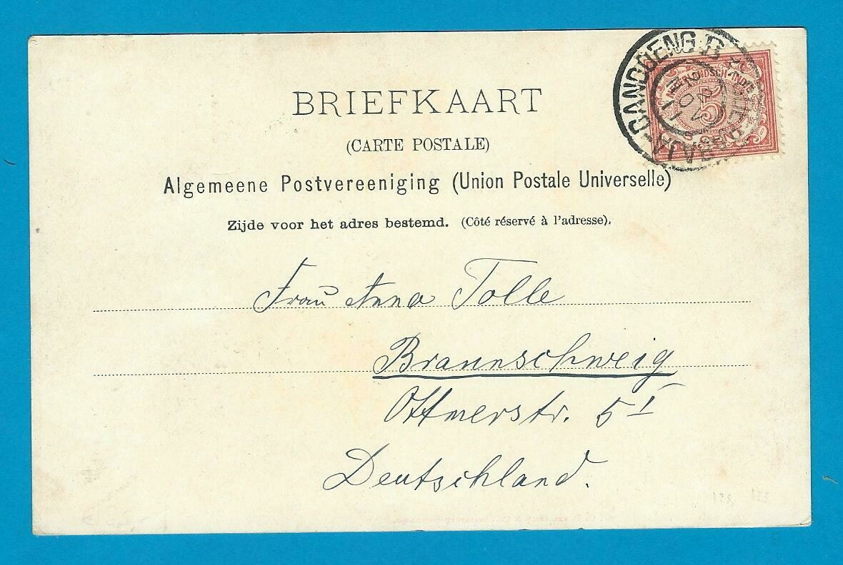 NETHERLANDS EAST INDIES PPC 1911 Bandoeng B-Soerabaja train