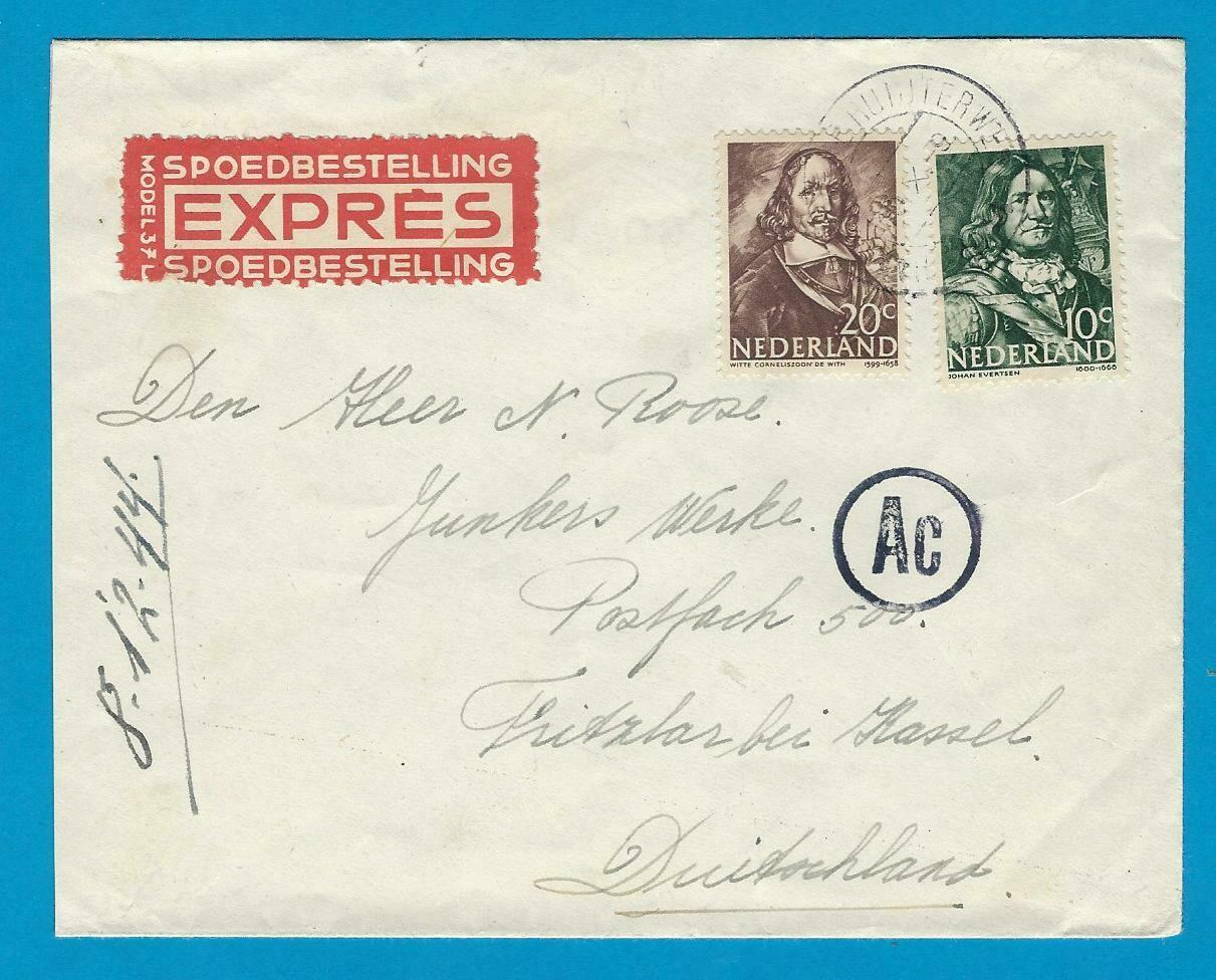 NEDERLAND expres brief 1944 Haarlem naar Duitsland
