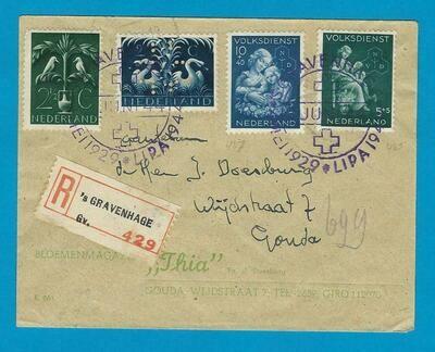 NEDERLAND R brief 1944 's Gravenhage LIPA stempel