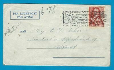 NEDERLAND brief van Rekken 1945 gepost Utrecht
