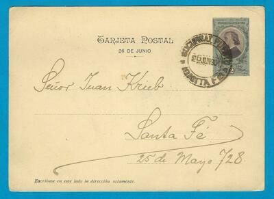 ARGENTINA postal card 1901 Santa Fé