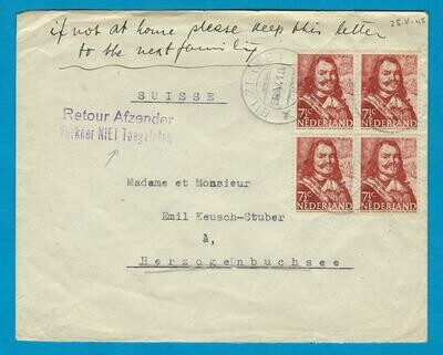 NEDERLAND brief 25-V-1945 Gilze