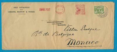 ENGELAND book post 1928 London naar Nederland en doorgestuurd