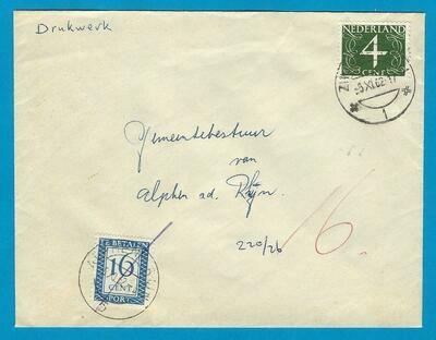 NEDERLAND drukwerk 1962 Zwammerdam beport want brief