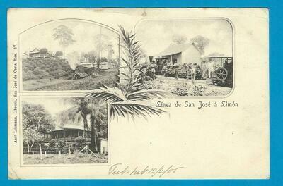 COSTA RICA PPC Linea San José - Limon 1905 to England