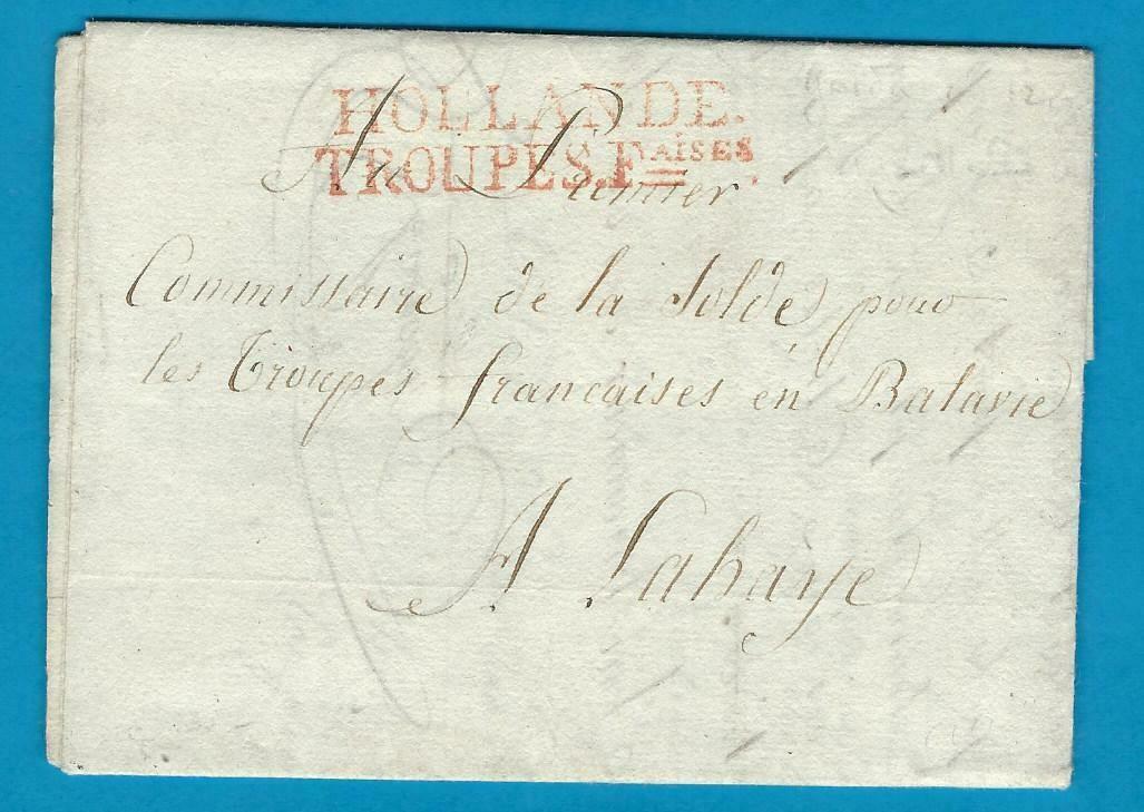 NEDERLAND Armée brief 1804 Gouda naar Den Haag