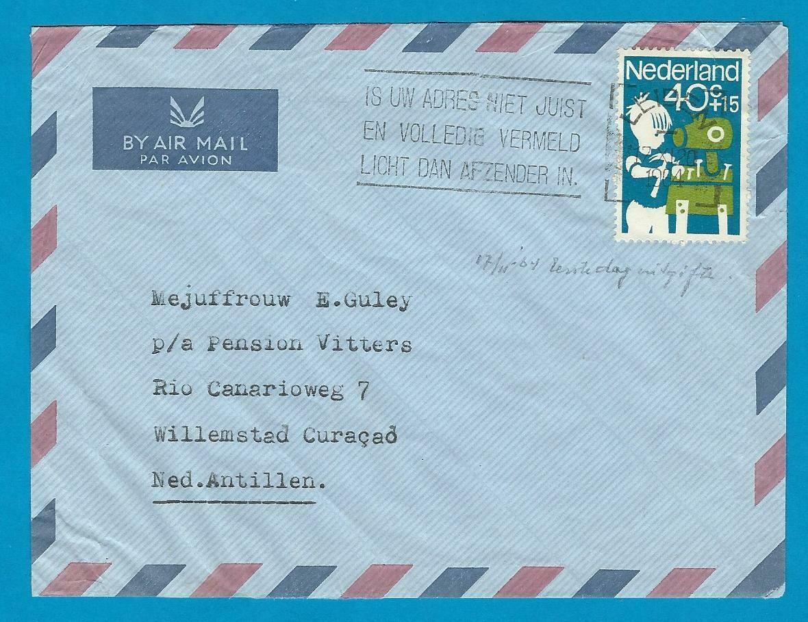 NEDERLAND FDC 17-11-1964 Leiden naar Curaçao