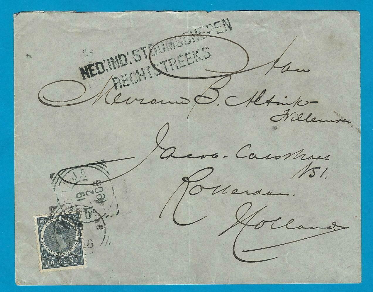 NETHERLANDS EAST INDIES cover 1906 Bangkalan