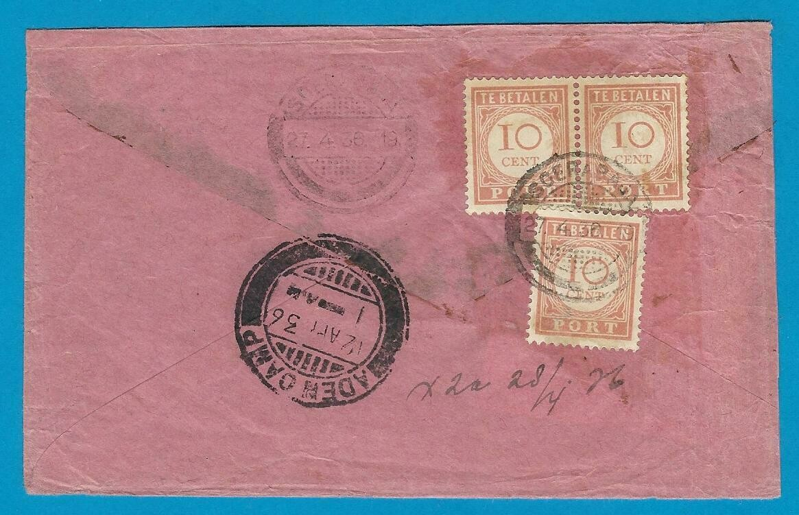 NETHERLANDS EAST INDIES postage due 1936 Soerabaja