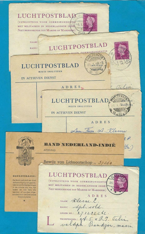 NETHERLANDS EAST INDIES correspondence 1949 to Dutch soldier