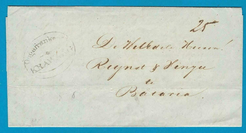 NETHERLANDS EAST INDIES entire 1854 Soebang