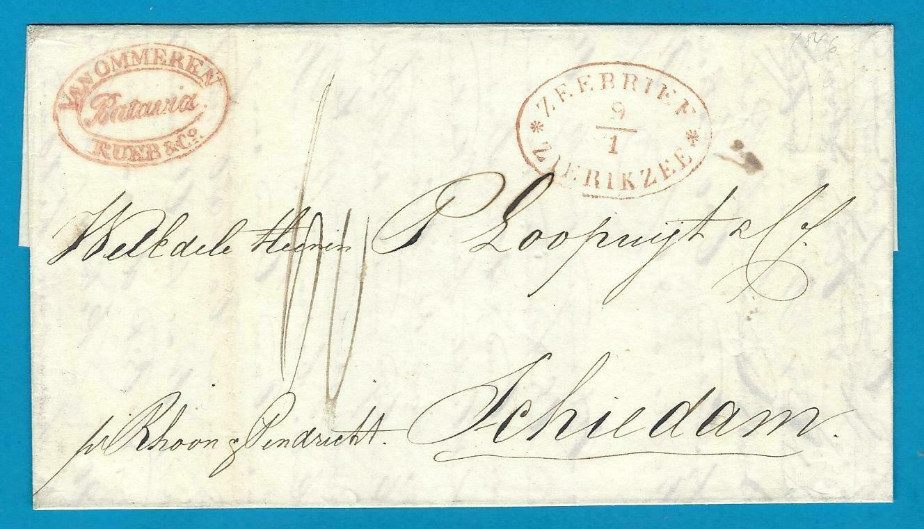 NETHERLANDS EAST INDIES entire 1845 Batavia to Schiedam