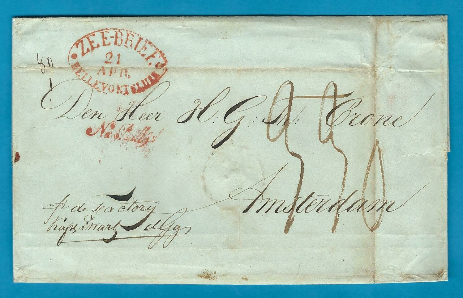 NETHERLANDS EAST INDIES entire 1842 Batavia to Amsterdam