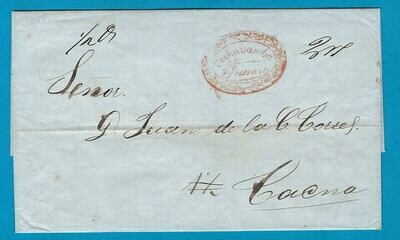 BOLIVIA entire  1855 Cochabamba to Tacna