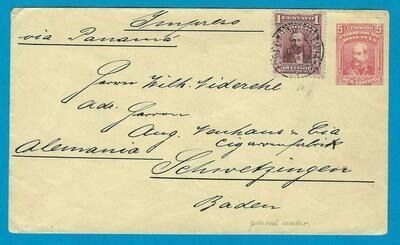 BOLIVIA postal envelope as printed matter La Paz to Germany